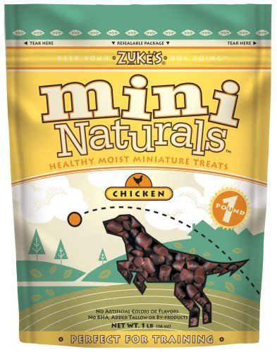 Zuke S Chicken Flavored Mini Naturals Dog Treats 16 Ounces Http Www Amazon Com Zukes Chicken Flavored Natu Natural Dog Treats Chicken Flavors Natural Treat