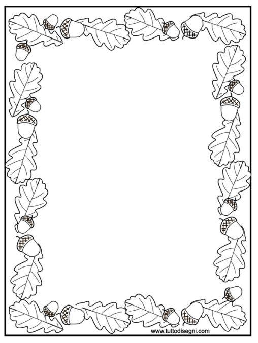 cornicetta-autunno | bordes-margenes | Pinterest ...