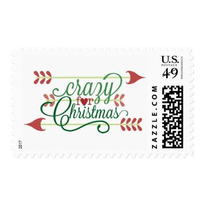 Crazy for Christmas word art Holiday stamp - christmas stamps - Holiday Templates For Word