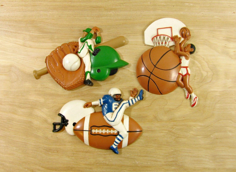 Vintage Burwood Wall Plaques Sports Wall Decor Boys Room Decor ...