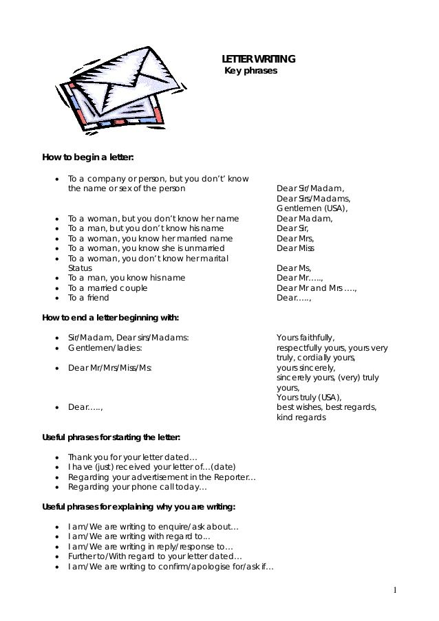letter writingkey phraseshow begin english worksheets expressions