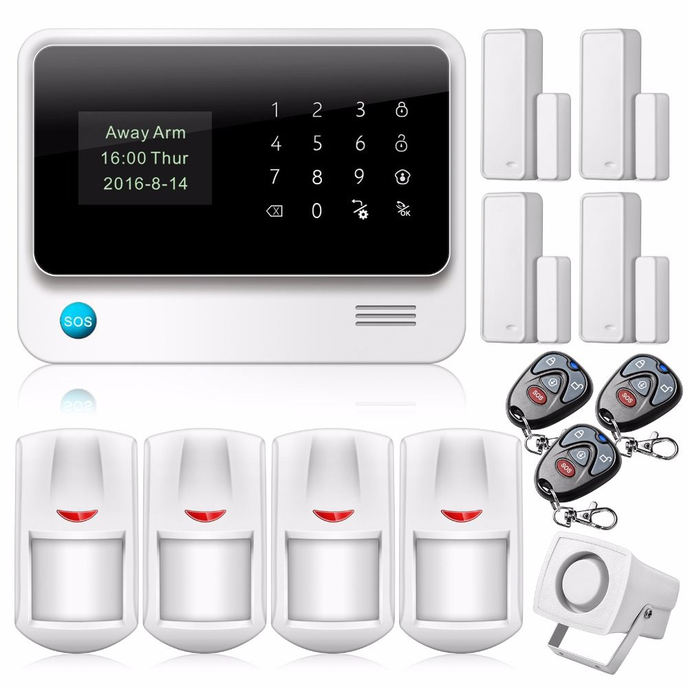 $144.00 - New 2.4G WiFi GSM GPRS Home Security Alarm System Door ...