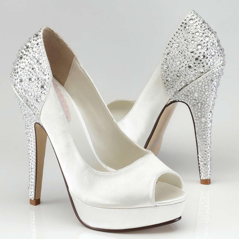 Chaussures mariées hautes avec strass   chaussures 086ae27c8c2b