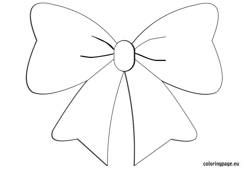 Bow Coloring Bow Template Christmas Bows Coloring Pages