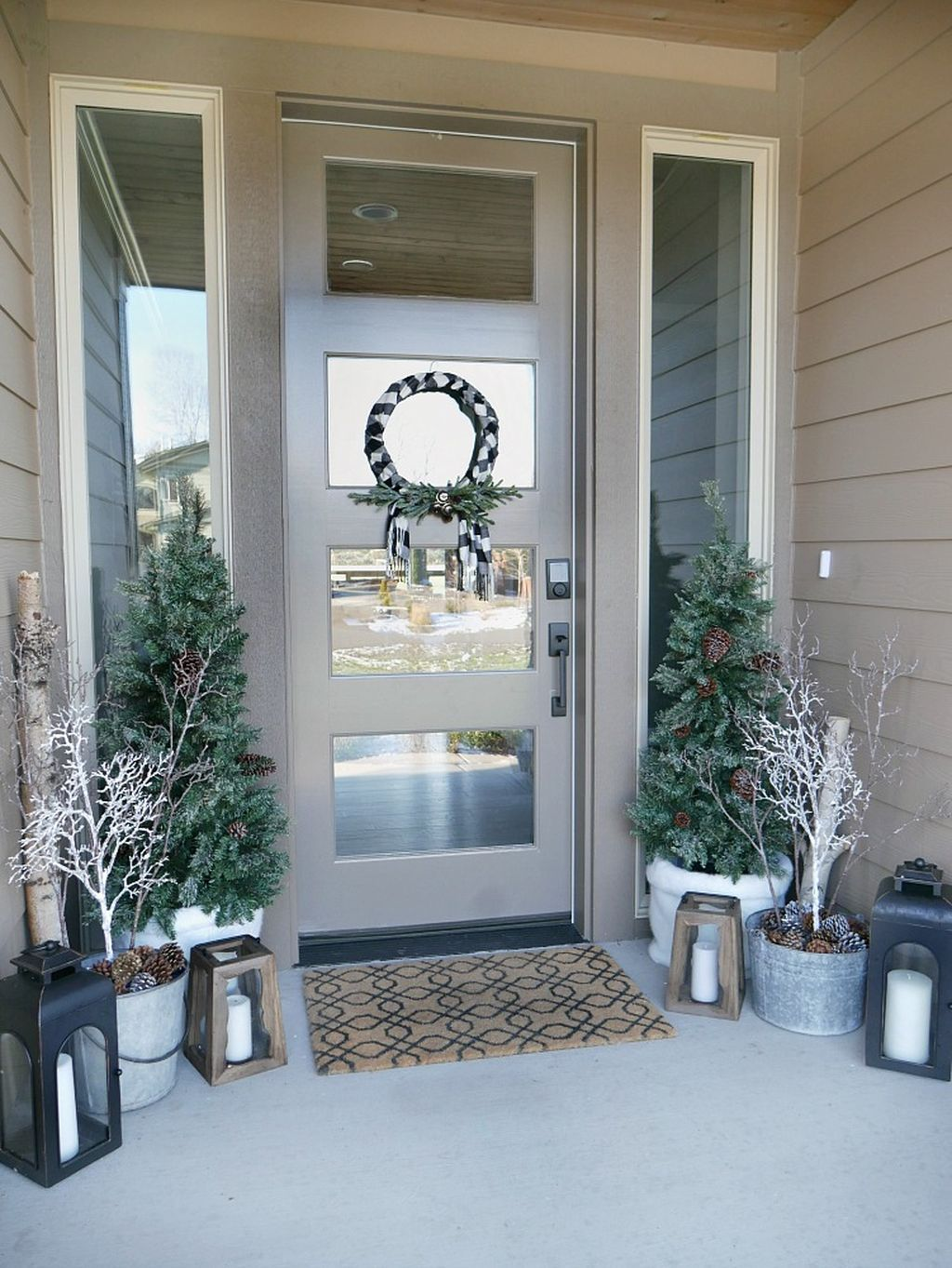 58 Stylish Winter Decoration Ideas for Your Front Door & 58 Stylish Winter Decoration Ideas for Your Front Door | Front doors ...