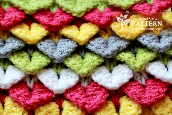Crochet Pattern Crocodile Stitch Cowl. $3.90, via Etsy. | DIY and ...