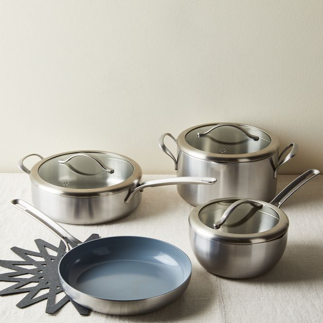 Five Two Essential Cookware Set From Food52 Nonstick Stainless