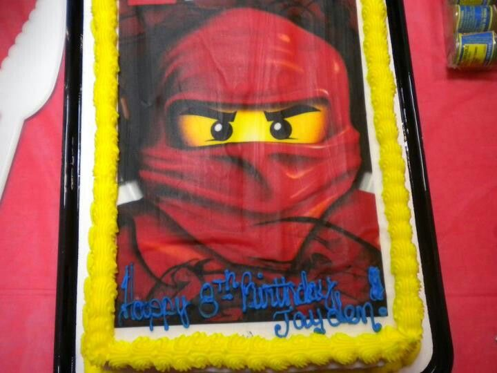 Magnificent Opted For A Cake From Pathmark W Screen Printed Lego Ninjago Funny Birthday Cards Online Chimdamsfinfo