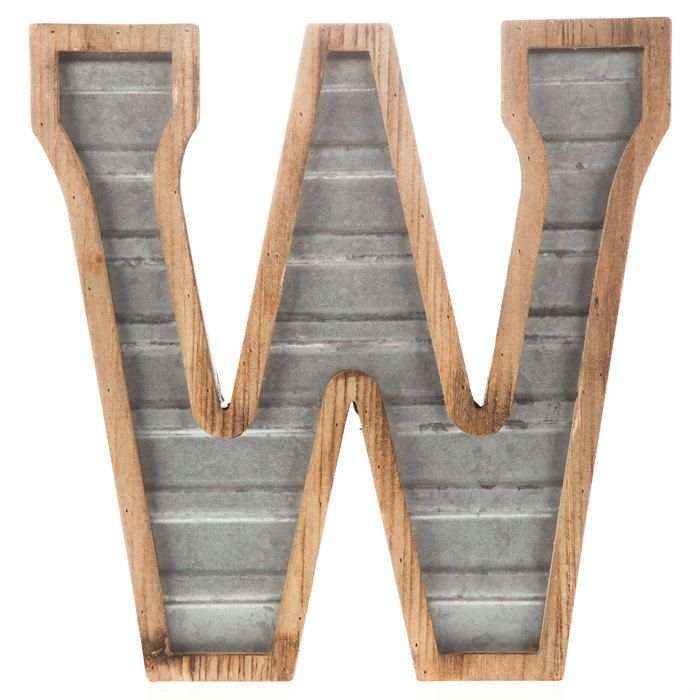 Galvanized Metal Letter Wall Decor W Galvanized Metal Decor Metal Letters Galvanized Metal