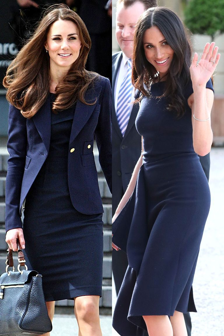 10c0704487 21 Times Kate Middleton and Meghan Markle Dressed Exactly the Same ...