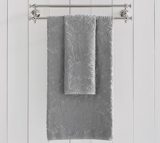 Isaac Floral Sculpted Bath Towels Pottery Barn Floral Bath Towels Towel Bath Towels