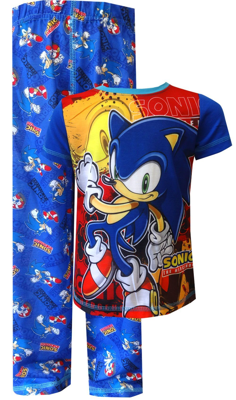 Amazon Com Sonic The Hedgehog On The Run Pajamas For Little Boys Clothing Sonic The Hedgehog Pajamas Baby Boy Outfits Little Boys