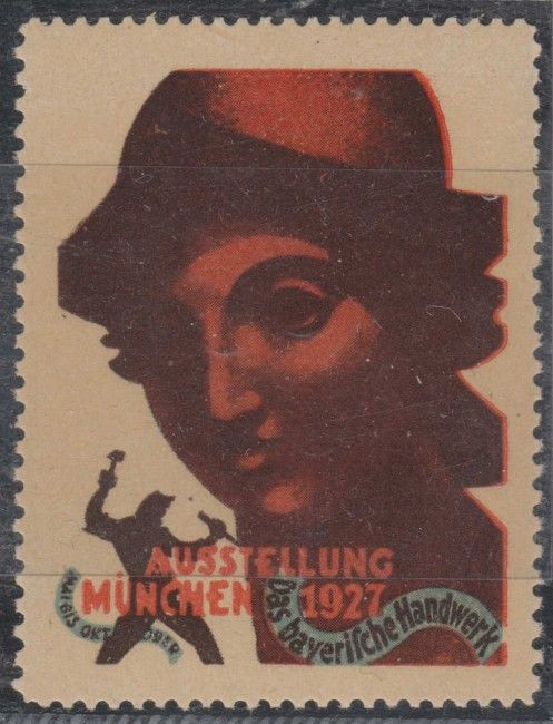 GERMANY CINDERELLA 1927 BAVARIAN ARTCRAFTS EXHIBITION IN MUNICH MNH VF