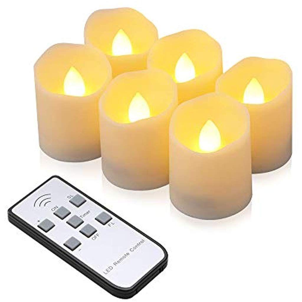 Led Kerzen Synmixx 6 Led Flammenlose Teelichter Flackern Kerzen