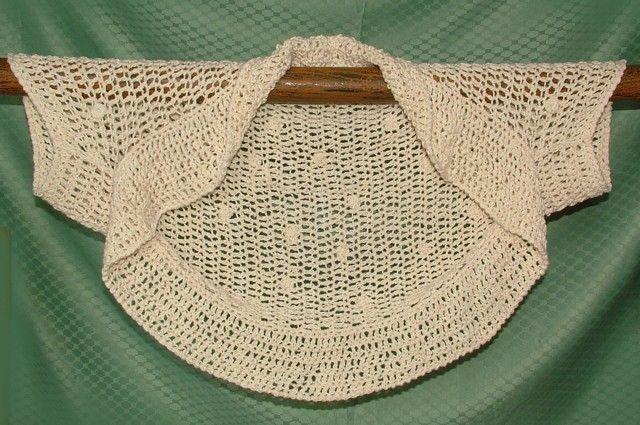 Easy Crochet Shrug Pattern Instant Digital Pdf Download Summer