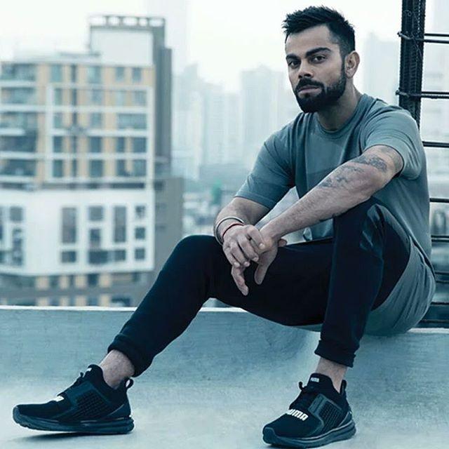 puma shoes virat kohli hairstyle in ipl ms dhoni