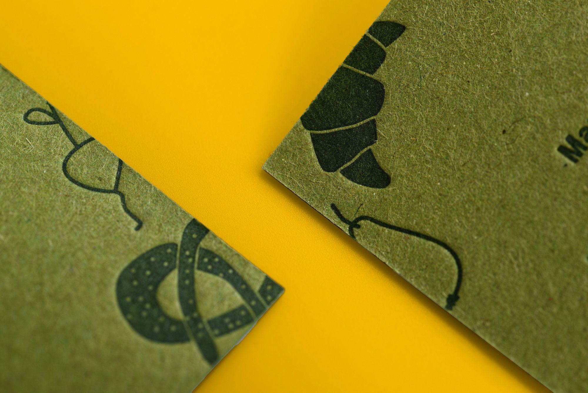 Letterpress Visitenkarten Für Marias Biotreff Gedruckt Auf