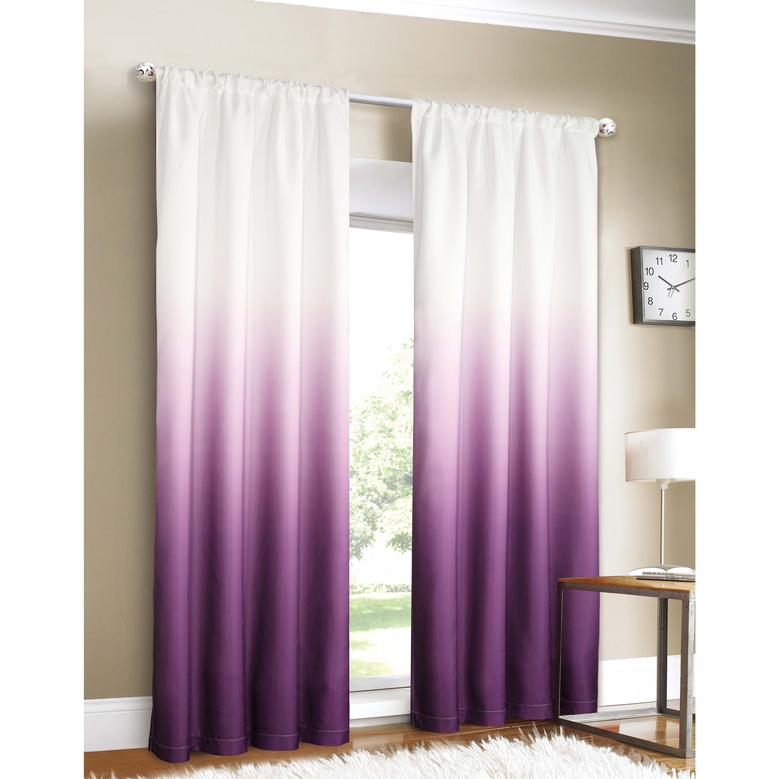 softline tab garden curtain ombre shipping on panels panel curtains over overstock linen and orders tie product cotton home free