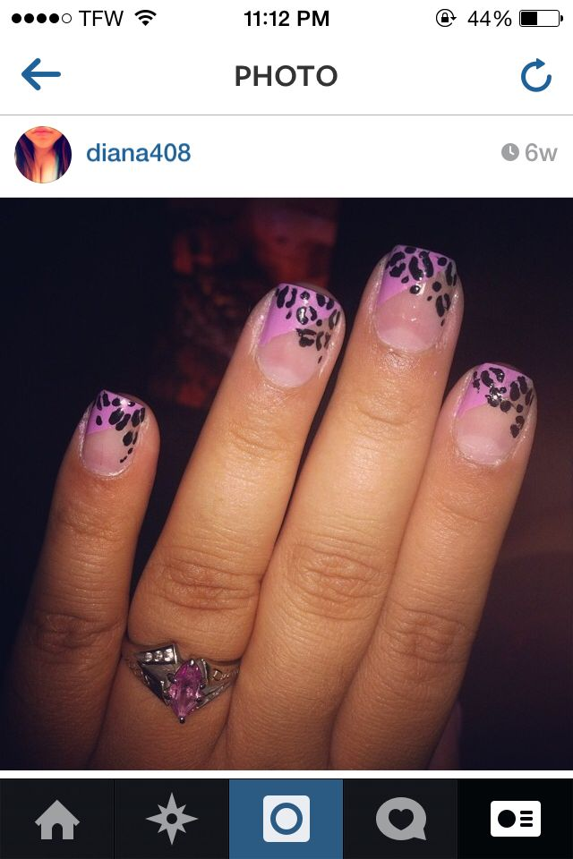 Love this one ! Baby purple with cheetah print.