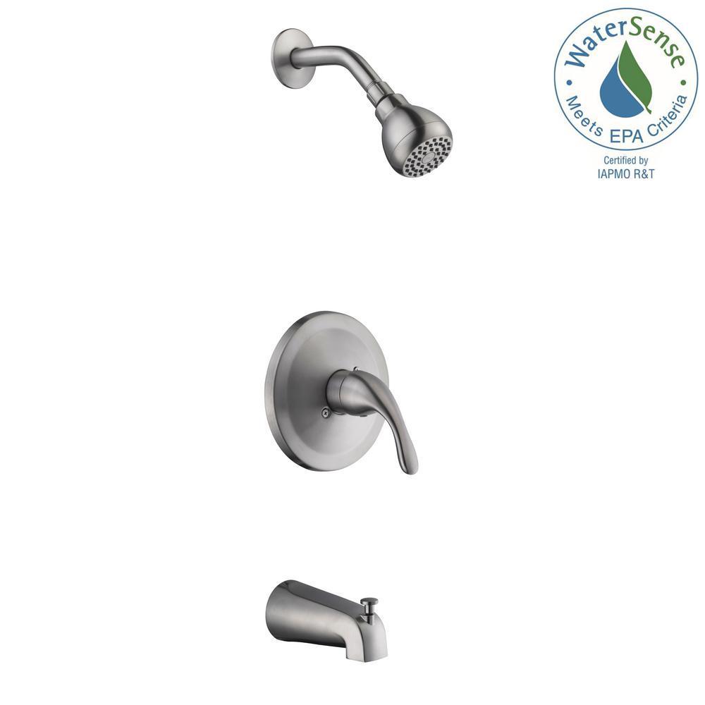 Glacier Bay Builders Single Handle 1 Spray Tub And Shower Faucet
