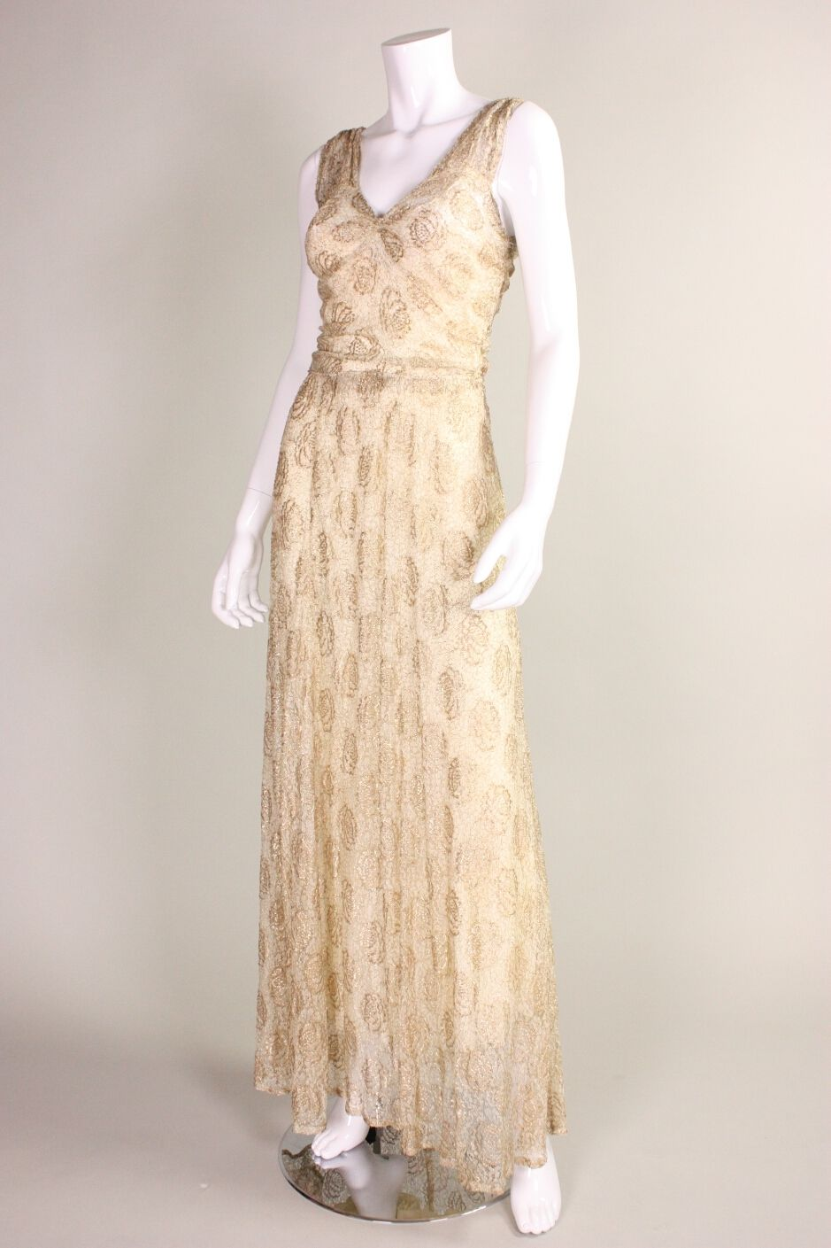 1920 lace dress  s Dress  s Gold Lamé Embroidered Deco Flapper Dress  Ruched