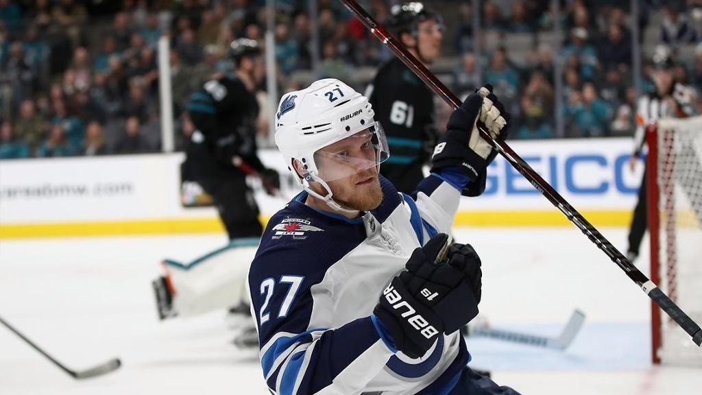 Ehlers Scores Hat Trick In Jets Victory Against Sharks Winnipeg Jets San Jose Sharks Game San Jose Sharks