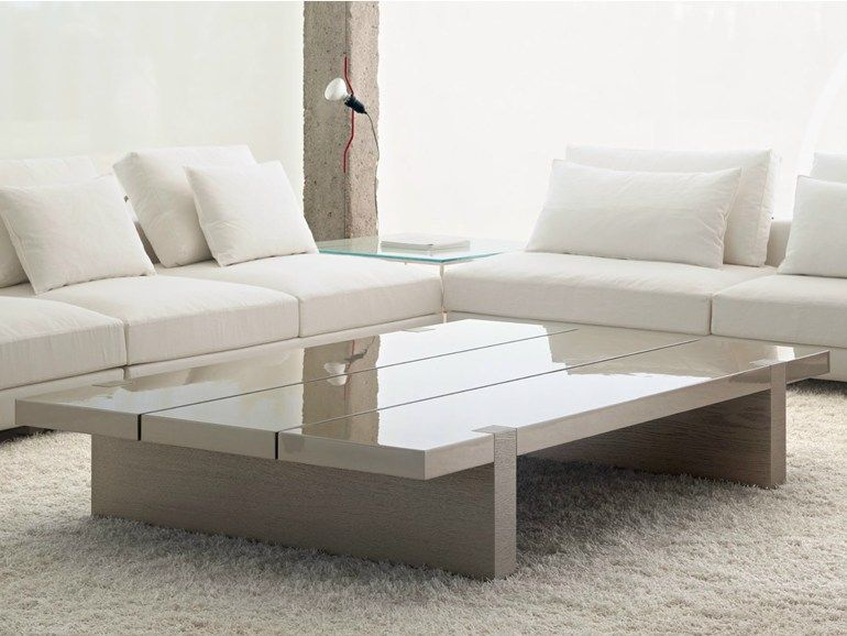 Rectangular coffee table for living room TRIPLE SPACIO by Baltus