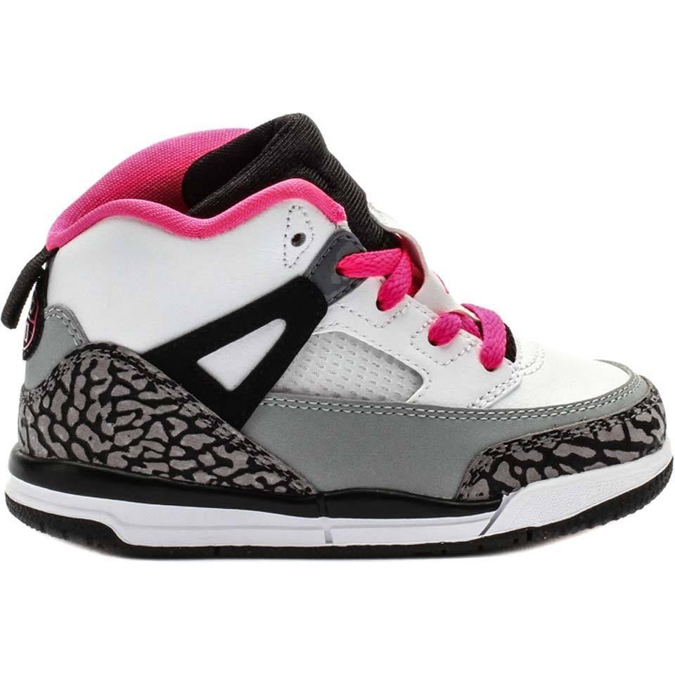 2e4006176c65c1  684932-109  AIR JORDAN SPIZIKE MID WHITE PINK GREY TODDLER SIZE. Jordan  SpizikeGirls ShoesBaby ...