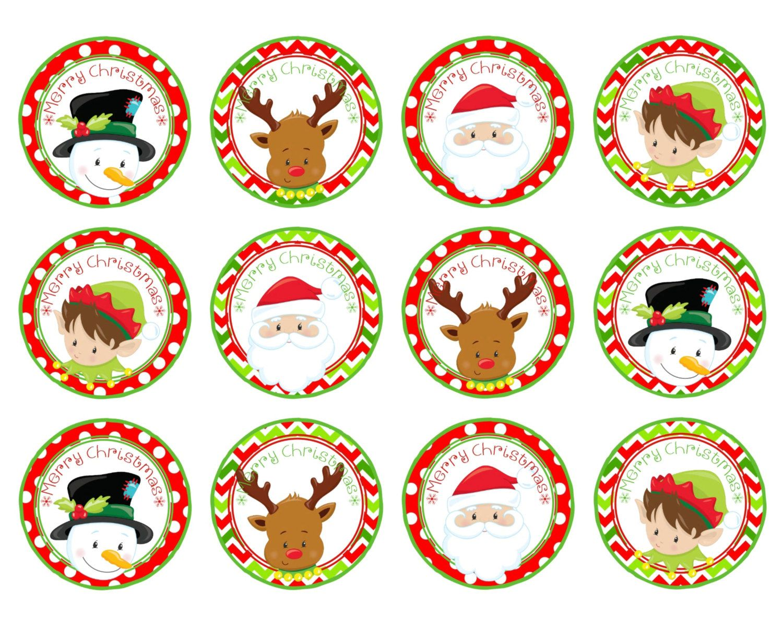 Christmas Cupcake Food Toppers