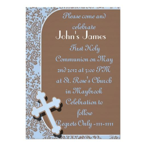 BOYS First Holy Communion Invitations Template Communion - invitation templates holy communion