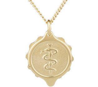 SOS Emergency Goldtone Medical ID Necklace