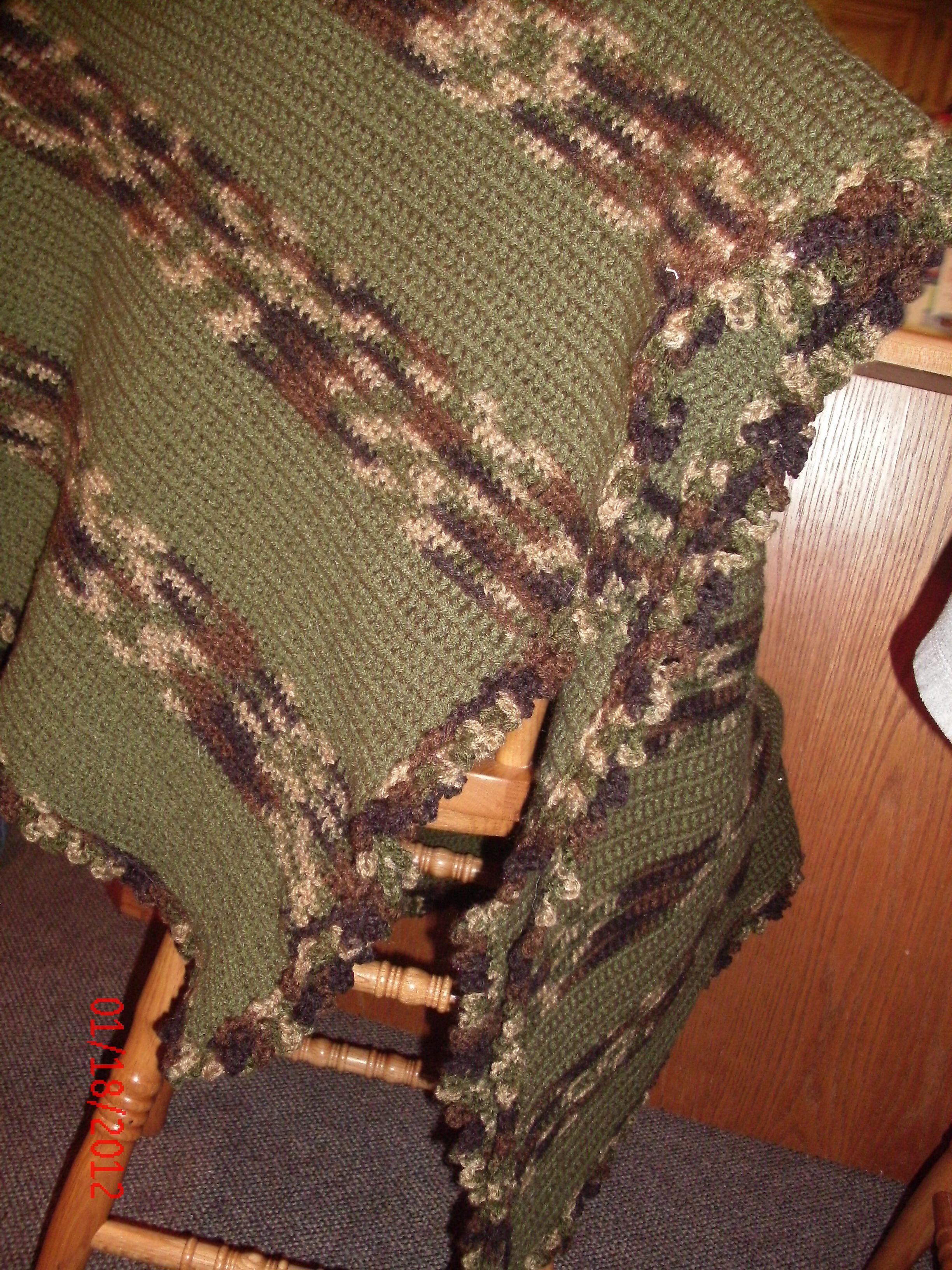 Crochet Camo Blanket Crochet Blanket Patterns Crochet