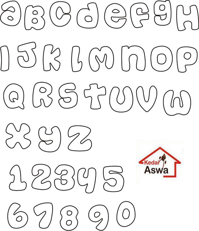 Pola Huruf Kain Flanel Word Fonts Flanel Craft Diy Baby Book