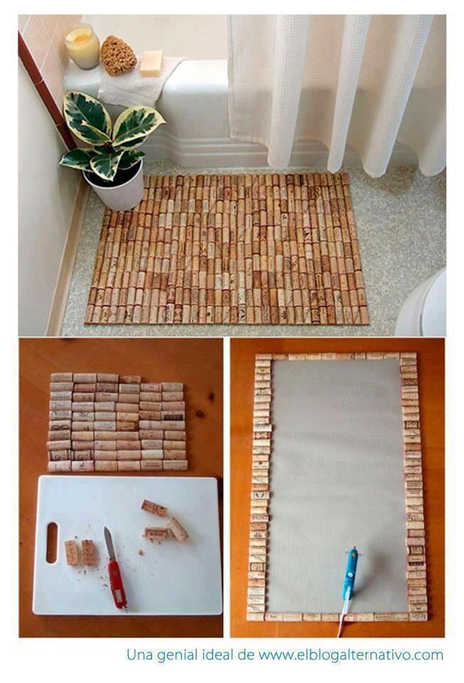 5 alfombra de ba o manualidades del hogar pinterest - Alfombra de corchos ...