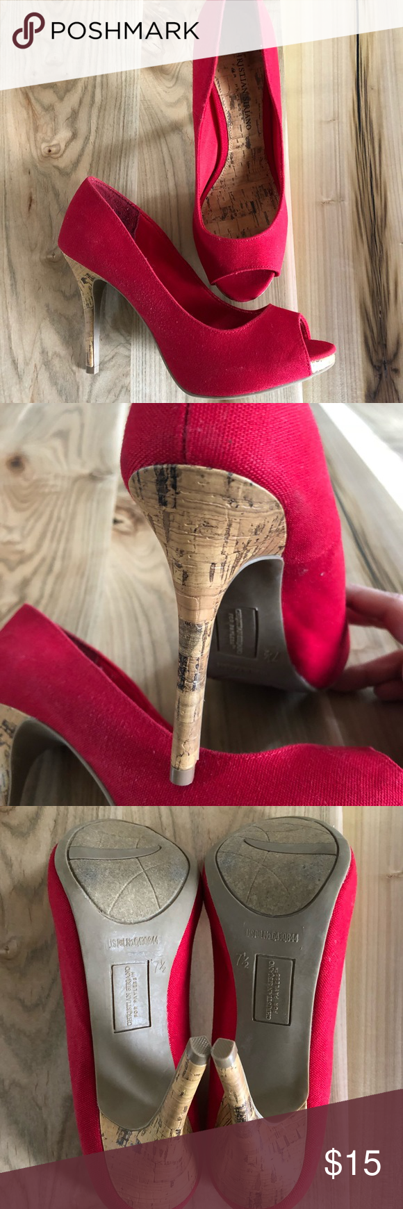Christian Siriano Shoes Red