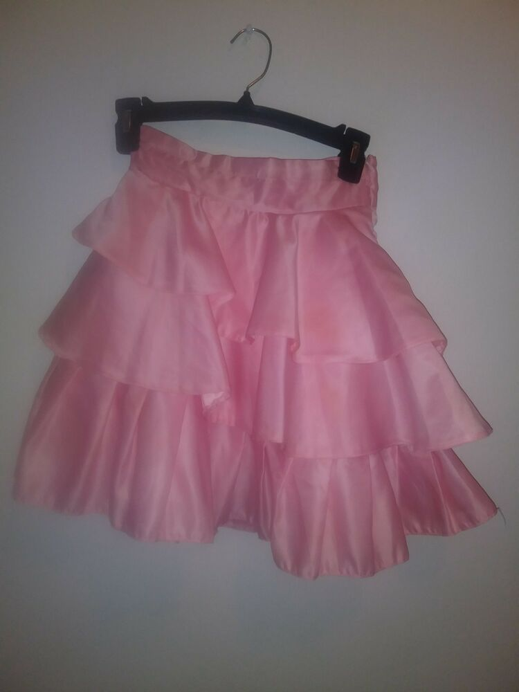 136c3f43bb2d Kids World Of Usa peach ruffled 3 layer skirt with rinestones.Size 10  #fashion #clothing #shoes #accessories #kidsclothingshoesaccs  #girlsclothingsizes4up ...