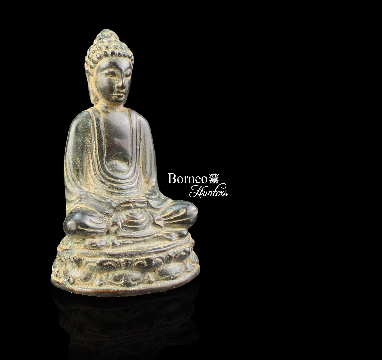 Small Golden Meditation Buddha Statue Buddhism Meditating Buddha Figurine