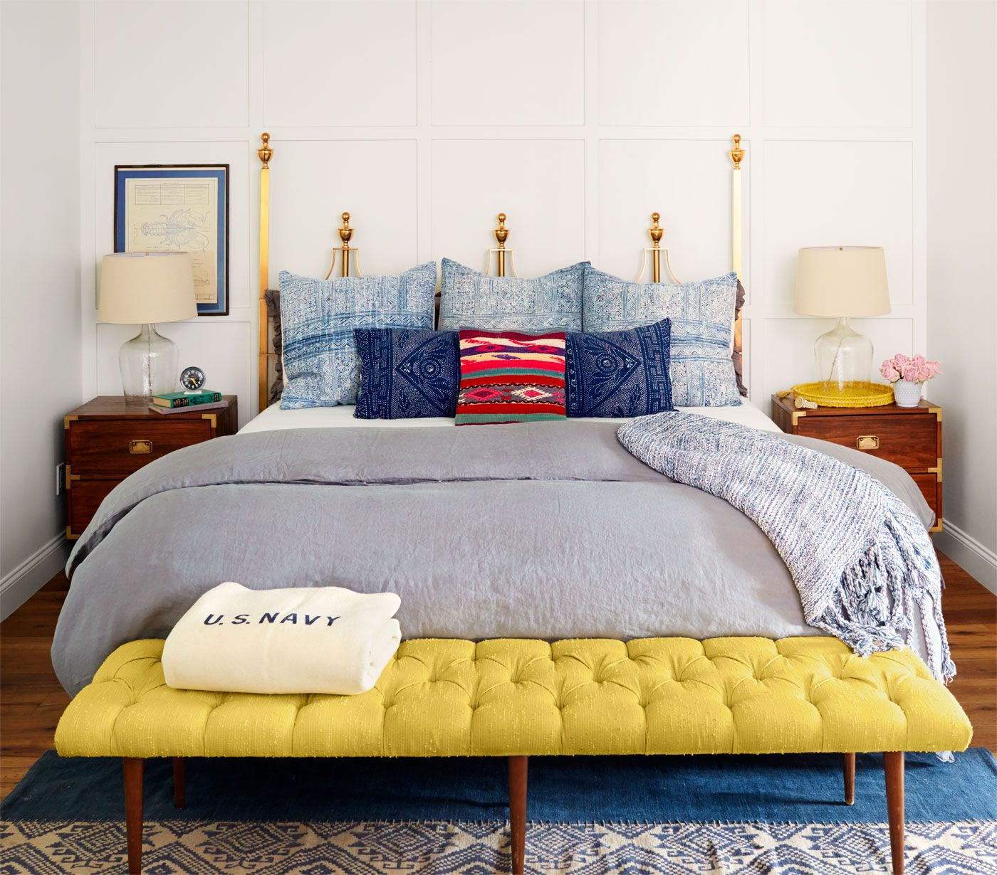 The find a s brass hollywood regency headboard that