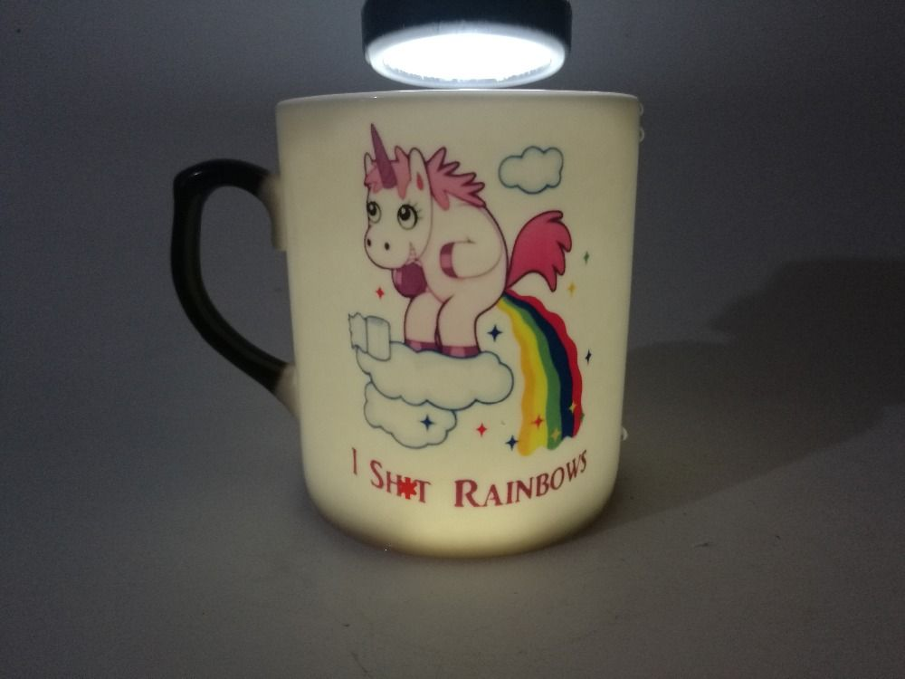 Unicorn Mugs Funny Rainbow Mug Kids Bone China Heat Reveal Sensitive Novelty Kid
