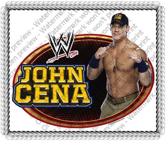 WWE John Cena Edible Image Cake Topper by EdibleInnovations 798