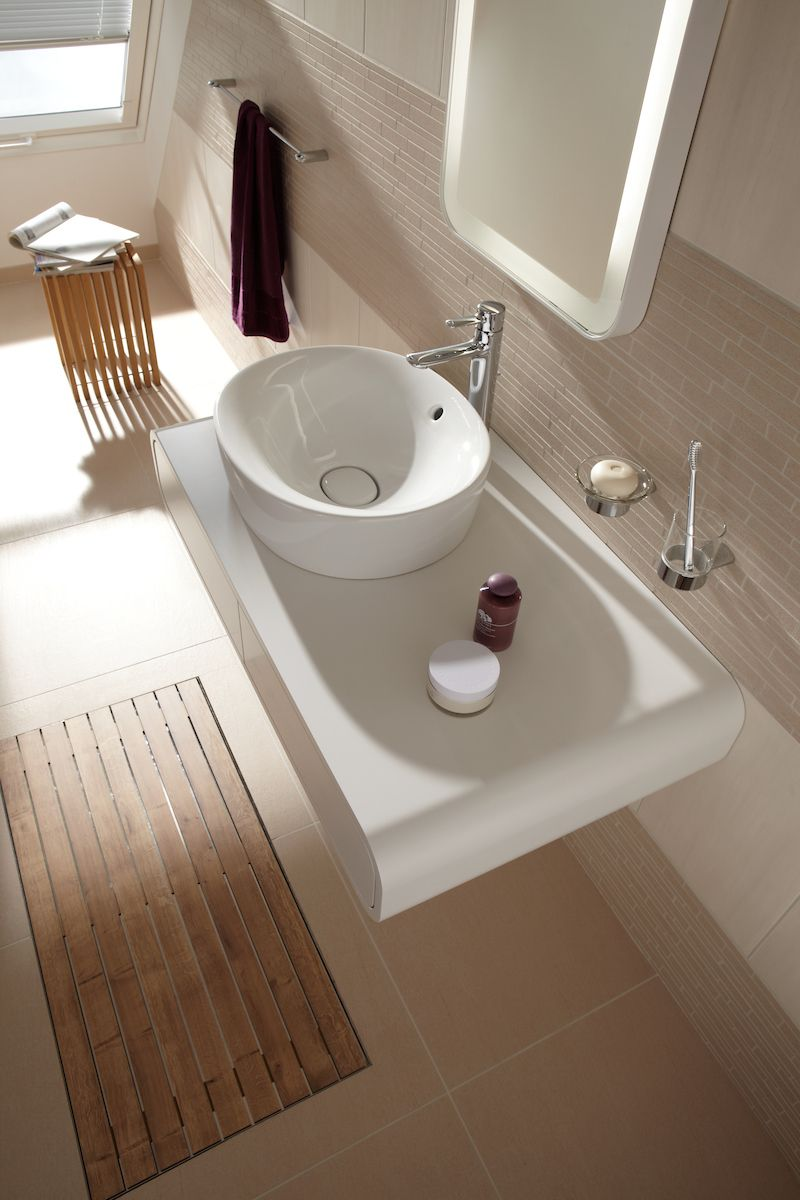 Wood tones and elements can create a spa-like experience in any ...