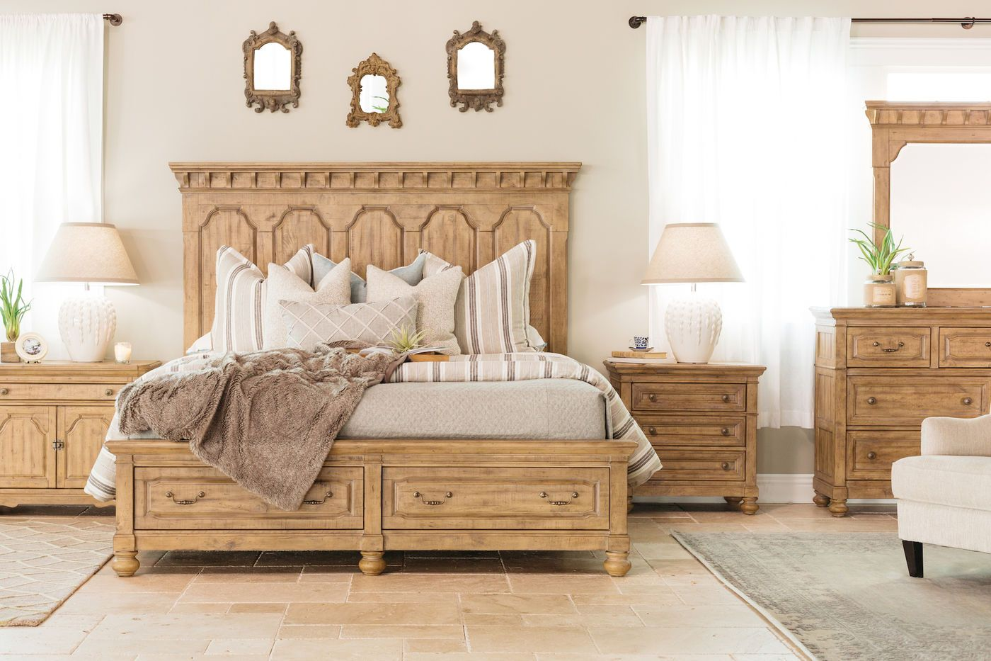Magnussen Home Graham Hills Wheat Storage Bed Mathis Brothers
