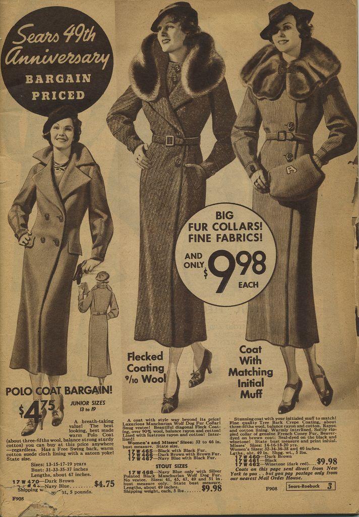 b7ebf02058a Sears catalog 1935   SEARS   Fashion catalogue, 30s fashion, 1940s ...