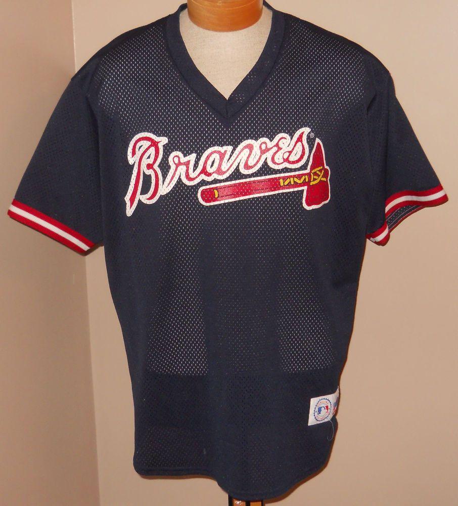 best website 755ee 6c114 Details about Braves Jersey Mens XXL 2XL White majestic ...