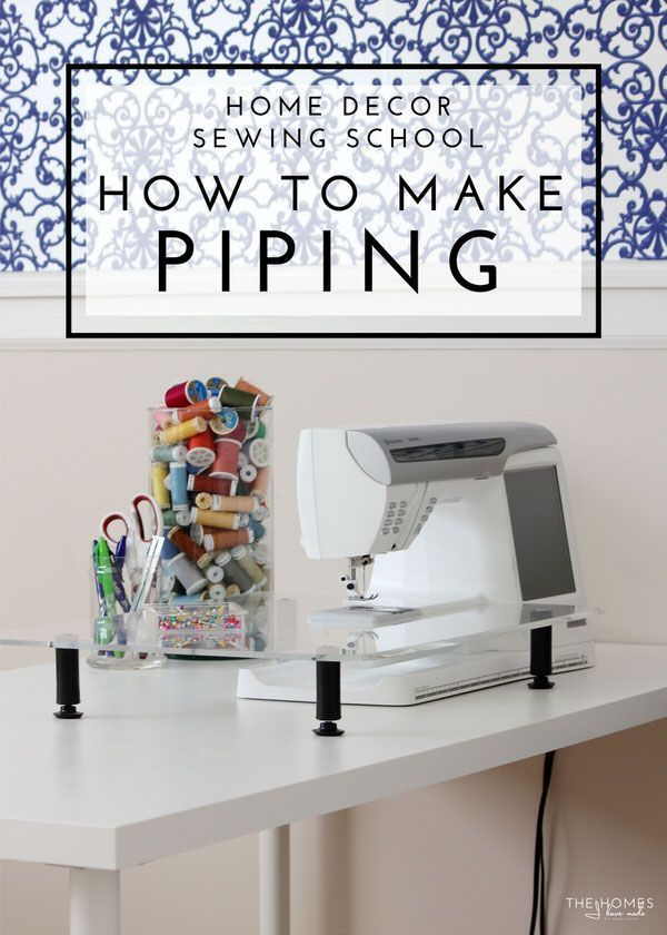 Home Decor Sewing School | How To Make Piping for Home Decor Projects - Learn how  sc 1 st  Pinterest & Home Decor Sewing School | Sewing school Sewing patterns and Patterns