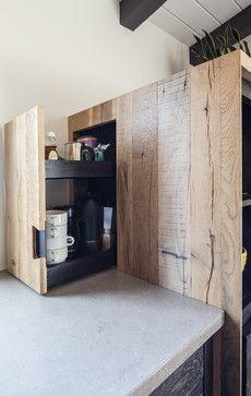 BEN RIDDERING design & woodcraft: Modern-Rustic Kitchen (hidden storage) - modern - Spaces - San Luis Obispo - BEN RIDDERING design & woodcraft