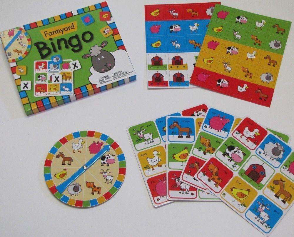 Farmyard Bingo Memory Pairs Game MakeBelieveIdeasLtd