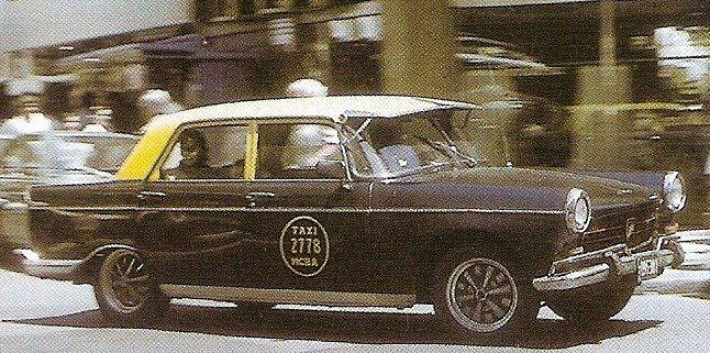 Cuando el Peugeot 404 era un exito como taxi en Bs As