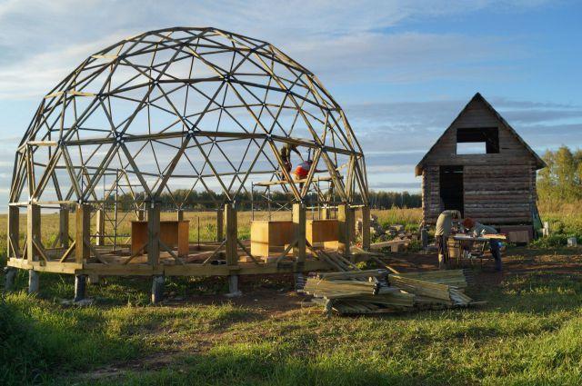 как построить купольный дом своими руками: 21 тыс ...