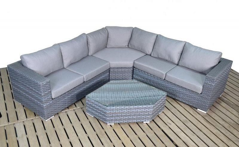 Platinum Angle Corner Sofa Rattan Furniture Set Rattan Furniture Corner Garden Furniture